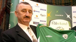 John Courtenay, then managing director of Umbro Ireland, at a sponsorship agreement with the FAI in 2005