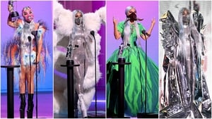 Lady Gaga stole the show with a series of eccentric outfits.