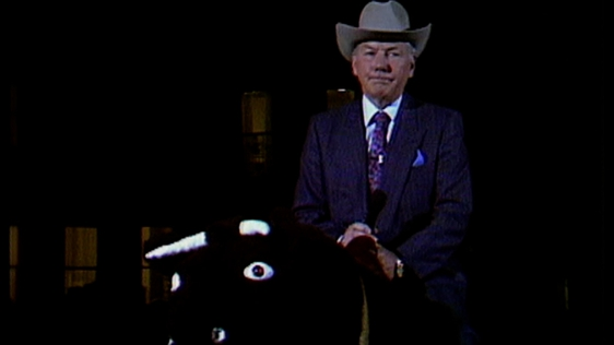 Gay Byrne on a Bucking Bronco on The Late Late Show (1990)