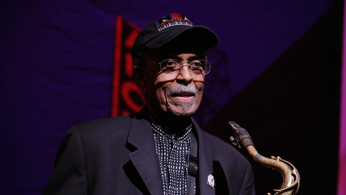 Saxophonist Jimmy Heath performing in 2016 in New York