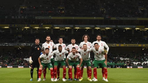 The Bulgaria team which started in Dublin in September 2019