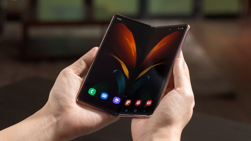 The Galaxy Z Fold 2's screen extends to 7.6 inches when unfolded