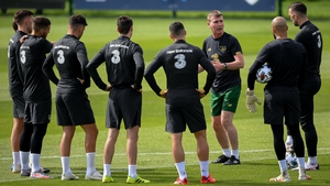 Stephen Kenny working with his squad for the first time this week