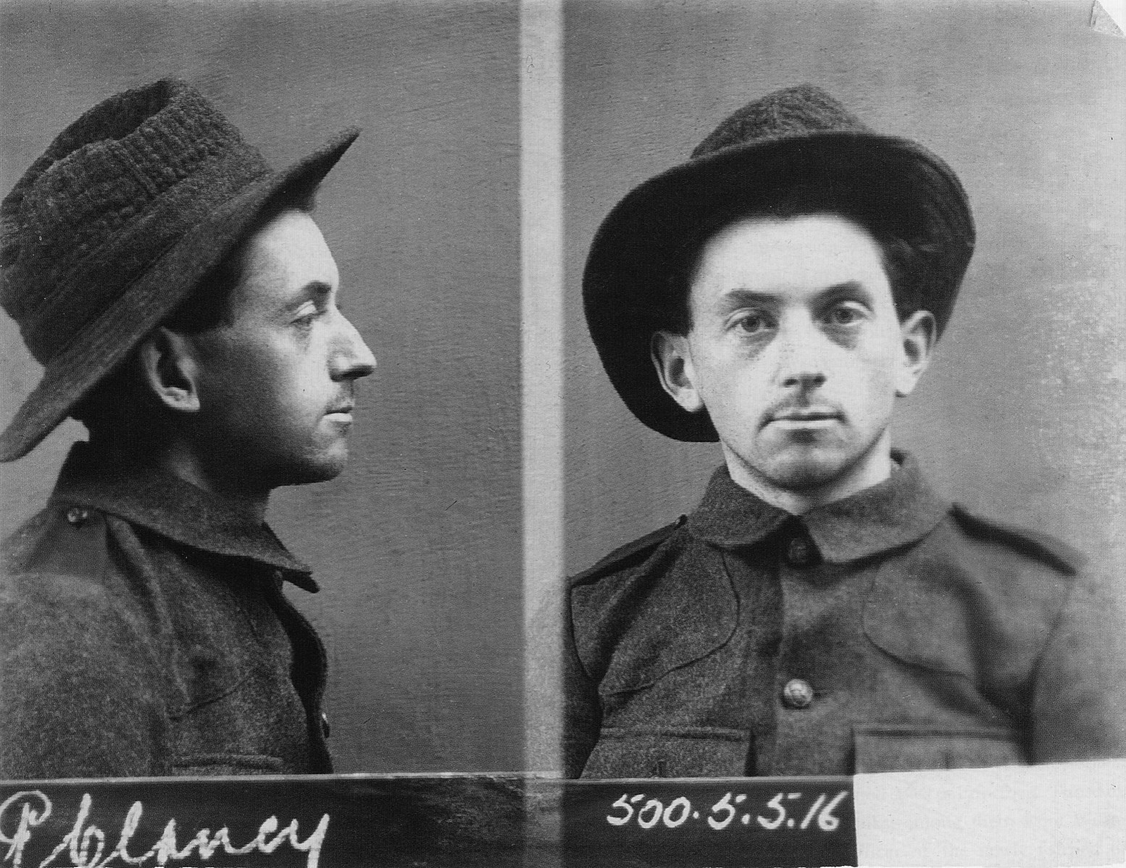Image - Peadar Clancy, shown here in 1916. He and Dick McKee were killed in Dublin Castle, allegedly while trying to escape. Image courtesy of Kilmainham Gaol Museum/OPW 17PO-1A22-20