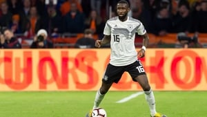 Antonio Rudiger in action for Germany