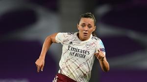 Katie McCabe in action in the Champions League quarter-final against Paris St Germain