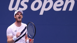 Andy Murray celebrates at Flushing Meadow