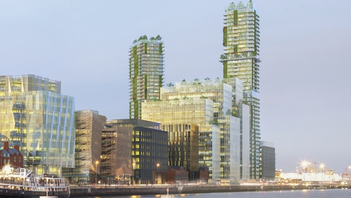 The scheme includes two 45 and 44 storey towers