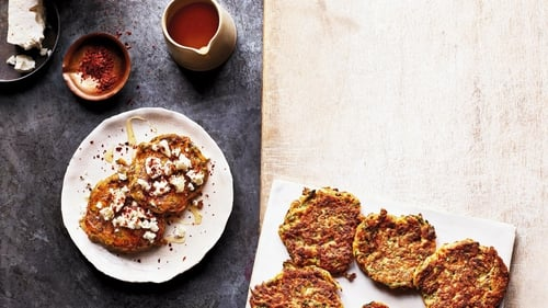 Grated courgette forms the base of these crispy fried fritters.