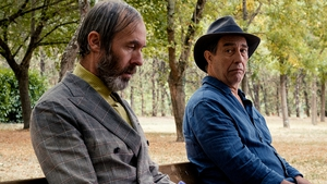 (L-R) - Stephen Dillane and Ciarán Hinds in The Man in the Hat - a contender for the sweetest film of 2020