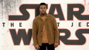 "John Boyega (pictured promoting Star Wars: The Last Jedi in London in December 2017) - ""Do not bring out a black character, market them to be much more important in the franchise than they are and then have them pushed to the side"""
