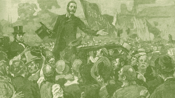 Charles Stewart Parnell addressing anti- rent meeting (Getty Images)
