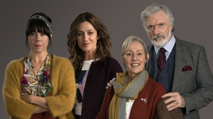 The South Westerlies airs at 9.30pm, Sundays on RTÉ One. Left to right: Eileen Walsh. Orla Brady, Ger Ryan, Patrick Bergin