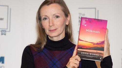 Anna Burns with her award-winning novel Milkman (file pic)