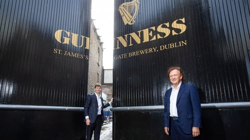 Oliver Loomes (l), Managing Director of Diageo Ireland and Sean Mulryan (r), Chairman and CEO Of Ballymore