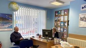 Tom Britton from Marble City Travel, Kilkenny, with Linda McNamara in her firm, Ace Travel, Newcastle West, Limerick