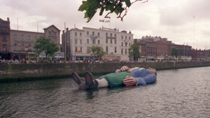 Gulliver at rest in the Liffey in 1988 as part of Dublin's Millennium celebrations. Photo: Dublin City Photographic Collection, Dublin City Council