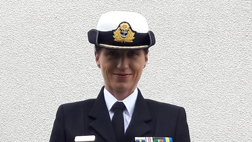 Commander Roberta O'Brien first joined the Permanent Defence Forces in 1995