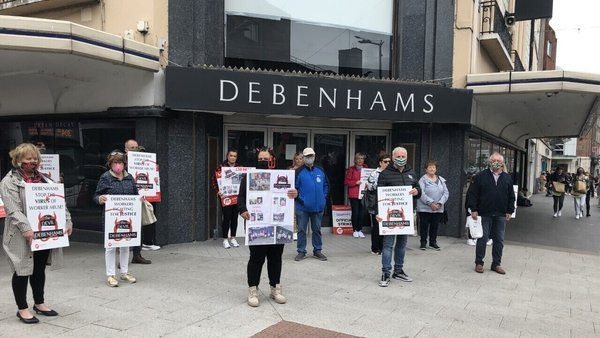1,000 workers lost their jobs in April when Debenhams' Irish operation went into liquidation