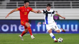 Daniel O'Shaughnessy in action for Finland against Wales on Thursday night