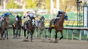 Authentic hits the finish line at Churchill Downs