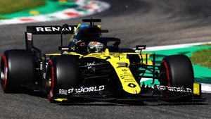 Daniel Ricciardo drives the 2020 Renault at this weekend's Italian grand prix