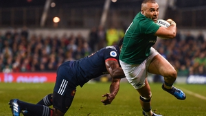 Zebo in action against France in 2017