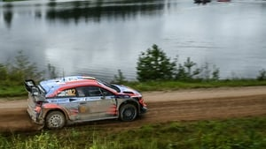 Craig Breen and co-driver Paul Nagel of Ireland during the special stage 14 of the Rally Estonia on 6 September