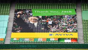 Big Jack was remembered at Lansdowne Road