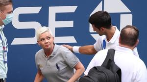 Djokovic apologises to the line judge he hit