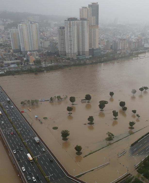 Typhoon flooding South Korea