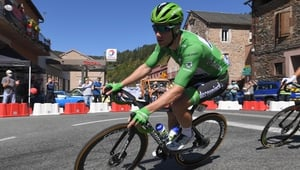 Sam Bennett earned the right to wear the green jersey for two days during this year's race