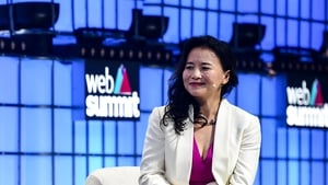 Cheng Lei pictured during the 2019 Web Summit in Portugal