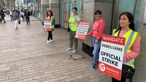 A picket outside Debenhams in Cork