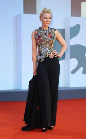 Cate Blanchett in reworked Alexander McQueen. Photo: Getty