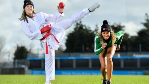 Karate international Caradh O'Donovan, left, and athlete Nadia Power