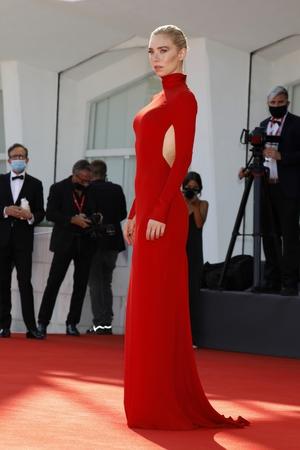 Vanessa Kirby in Valentino. Photo: Getty