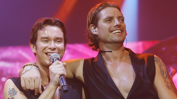 """Stephen Gately and Keith Duffy (pictured onstage at London's 02 Arena in May 2008) - """"They've put in place somewhere where his name will be remembered forever"""""""