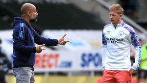 Pep Guardiola is hopeful when it comes to Kevin De Bruyne's future