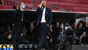 Gareth Southgate on the sidelines against Denmark