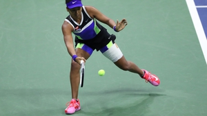Naomi Osaka landed just 47% of her first serves in her win over Shelby Rogers