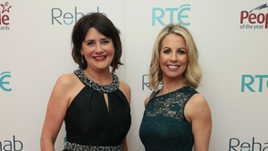 Keelin Shanley and Caitriona Perry, pictured at the 43rd Rehab People of the Year Awards in 2018.