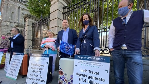 15 travel agents submitted a letter to the Government on behalf of travel agents throughout Ireland