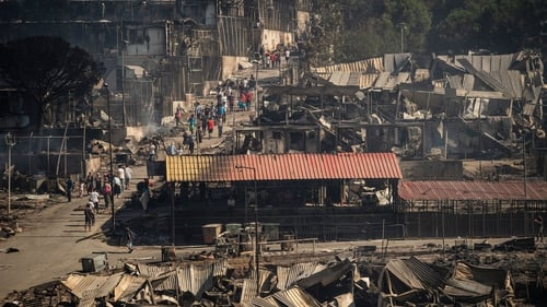 The fire broke out at the camp, which is home to 12,000 people, on Tuesday night