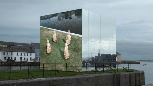 Mirror Pavilion by John Gerrard can be seen on Claddagh Quay, Galway