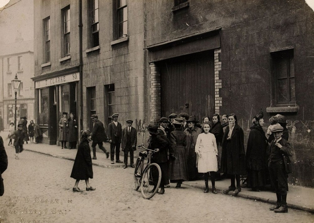 The corner of North King Street and Church Street where the incident took place Photo: National Library of Ireland, HOGW 127