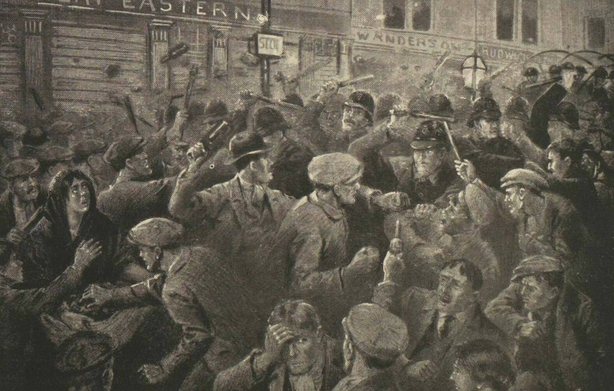 An illustration of the Belfast riots Photo: Illustrated London News, 4 September 1920