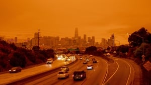 People in the San Francisco Bay Area awoke to a deep orange sky caused by wildfire smoke that at times blocked out sunlight entirely