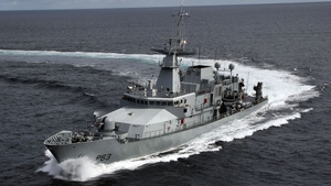 The vessels were detained by the LÉ William Butler Yeats (P63), shown above
