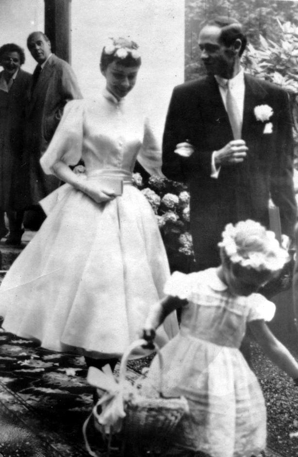 Audrey Hepburn and Mel Ferrer 1954 wedding